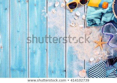 sea still life with sand and copy space Stock photo © 808isgreat