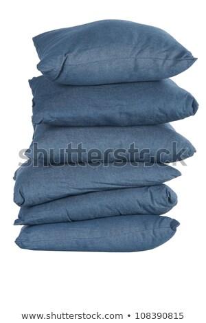 Blue Denim Pillows Photo stock © caimacanul