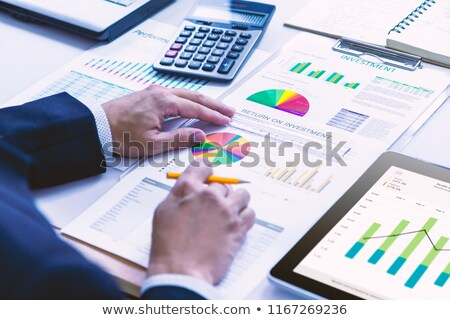 Businessman reviewing a report Stock photo © photography33