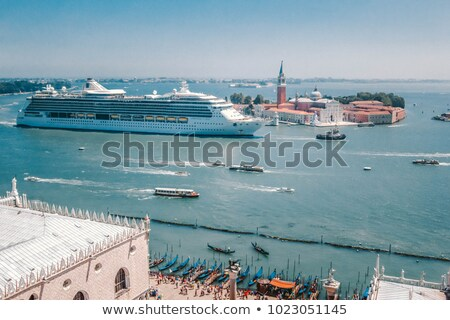 top view of venice roof and sea port stock photo © michey