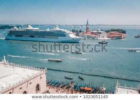 üst görmek Venedik çatı deniz liman Stok fotoğraf © michey