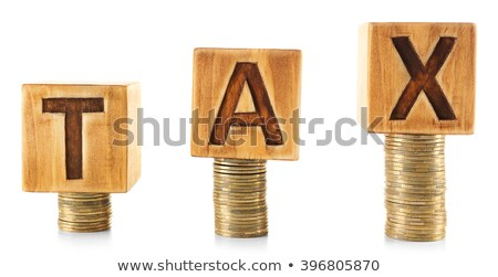currency - written with coins on white background Stock photo © pterwort