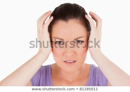 格好良い 女性 頭痛 立って 白 セクシー ストックフォト © wavebreak_media