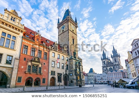 old city hall in prague at sunrise stock photo © andreykr