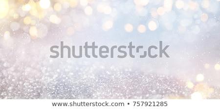 Zilver bokeh lichten textuur abstract licht Stockfoto © tashatuvango
