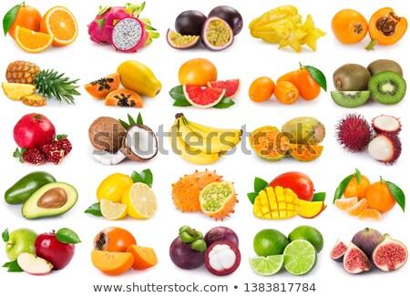 Meyve yalıtılmış siyah doğa arka plan turuncu Stok fotoğraf © danny_smythe