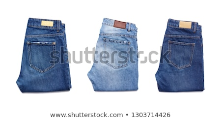 adolescente · bleu · denim · robe · vêtements - photo stock © shutswis