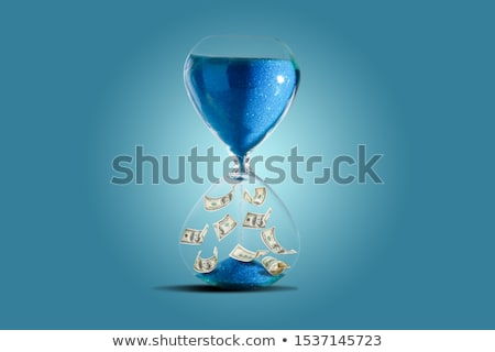 sand-glass and dollar. Concept - time is money Stock photo © shutswis