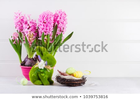 chocolate easter and flowers Stock photo © M-studio