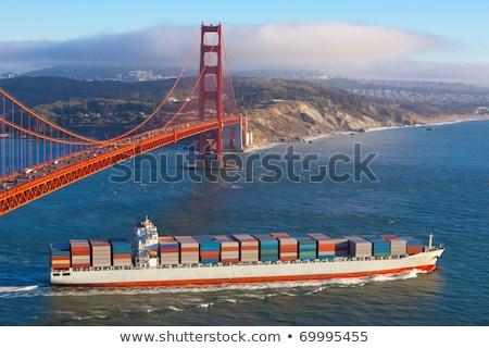 Kontenerowiec San Francisco działalności biuro wody morza Zdjęcia stock © bigjohn36