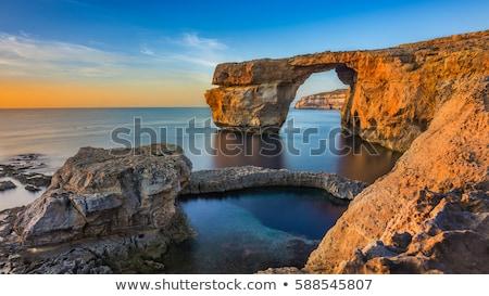 masmavi · pencere · ünlü · taş · kemer · ada - stok fotoğraf © elinamanninen