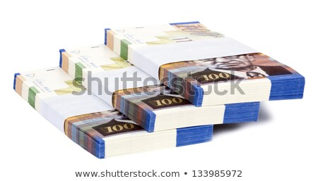 Isolated 100 NIS Bills Stacks Staircase Stock photo © eldadcarin