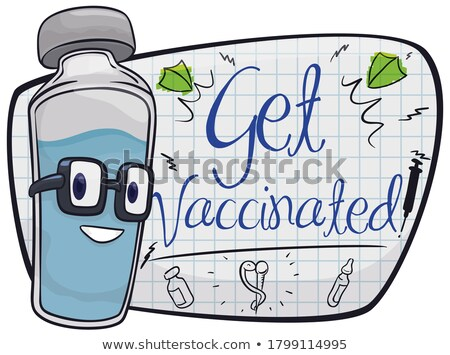 Stock photo: Some medical vial and syringe