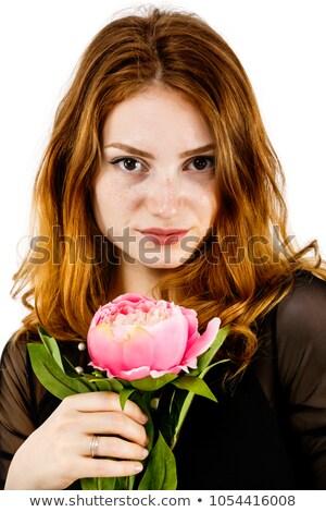 Mooie melancholicus blond portret europese Stockfoto © zastavkin