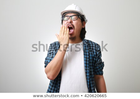Construction worker yawning Stock photo © photography33