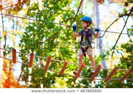 erkek · tırmanma · net · kamp · gökyüzü - stok fotoğraf © emese73