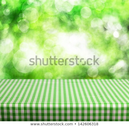 Zdjęcia stock: Square Table With Green Tablecloth