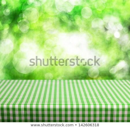 beyaz · temizlemek · tablo · restoran · masa · örtüsü · yalıtılmış - stok fotoğraf © dvarg