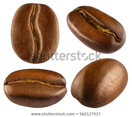 grãos · de · café · isolado · branco · objeto · macro · feijão - foto stock © digitalr