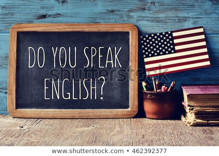 Do you speak English question on a blackboard Stock photo © PixelsAway