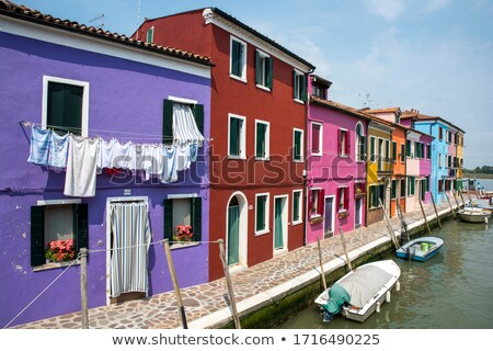 beautiful colored houses of the old fishermans  city Burano in t Stock photo © meinzahn