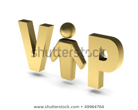 Vip persona dorado cartas humanos figura Foto stock © alexmillos