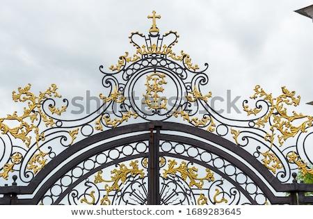 fragment of catherine palace gate in Tsarskoye Selo Stock photo © Mikko