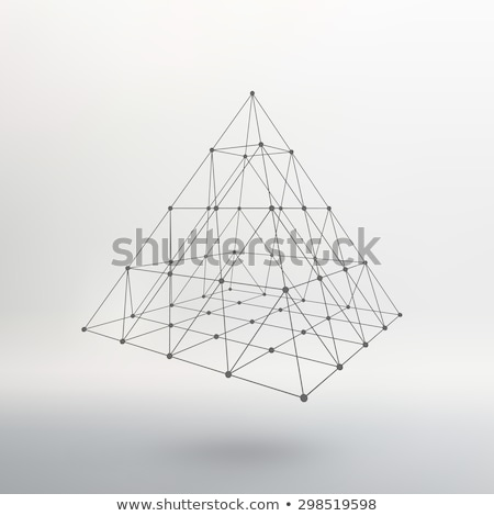 wereldbol · 3D · kubus · kaart · abstract · Blauw - stockfoto © silense