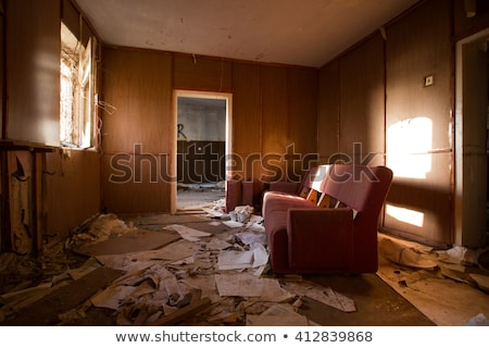 Ruined interior in the building Stock photo © konradbak