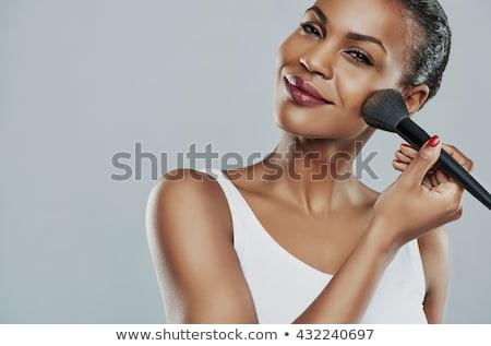 Jovem mulher negra atraente mulher menina feliz Foto stock © tommyandone