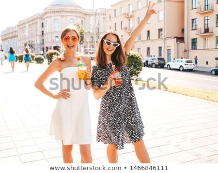 Mooie sexy vers jonge vrouw partij jurk Stockfoto © arturkurjan