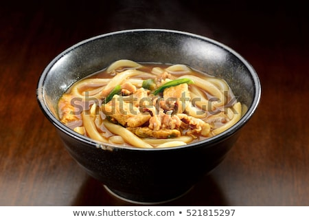zuppa · ciotola · japanese · cucchiaio · rosso - foto d'archivio © varts