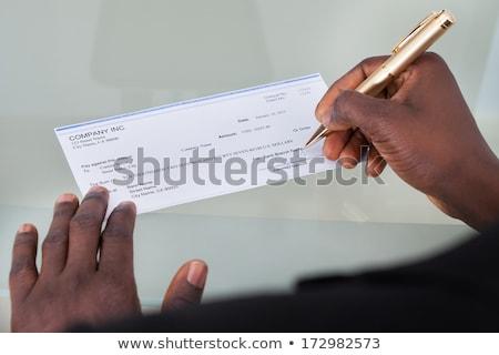 Mano humana escrito primer plano negocios oficina Foto stock © AndreyPopov