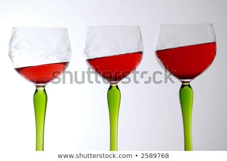 Három borospoharak gravitáció buli háttér szemüveg Stock fotó © c-foto
