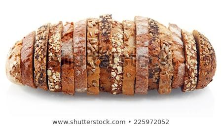 Une rouler pain sésame blanche fond Photo stock © tarczas