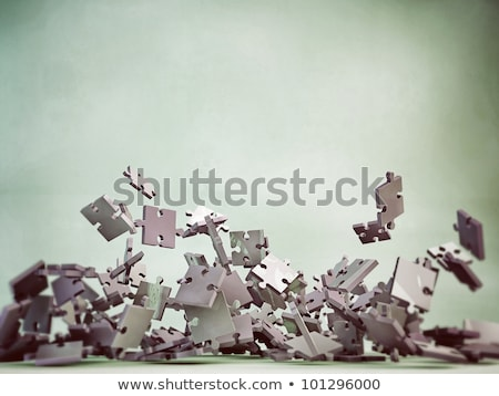 falling puzzle pieces stock photo © deyangeorgiev