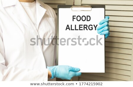 tablet with the diagnosis allergy on the display stock photo © zerbor