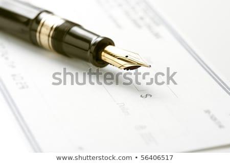 авторучка проверить Focus наконечник пер знак доллара Сток-фото © ambientideas