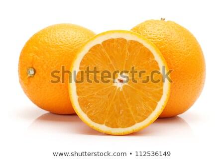 全体 オレンジ果実 孤立した 白 カットアウト 壊れた ストックフォト © natika