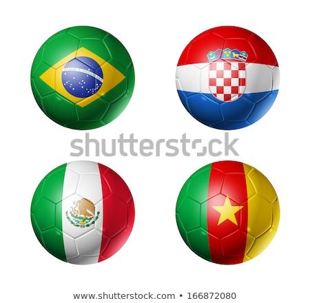 soccer ball with brasil flag stock photo © m_pavlov