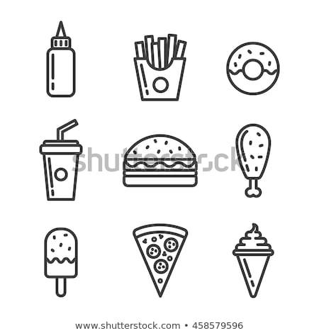 beber · ícones · vetor · soda · fast-food · café - foto stock © elenapro