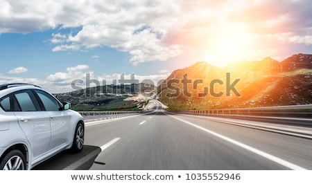 Fast driving car on a highway Stock photo © Nejron