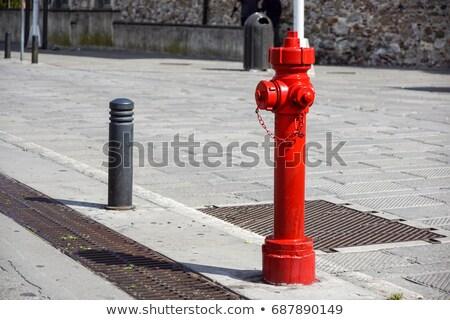 velho · água · vermelho · fogo · cidade · Lisboa - foto stock © taviphoto