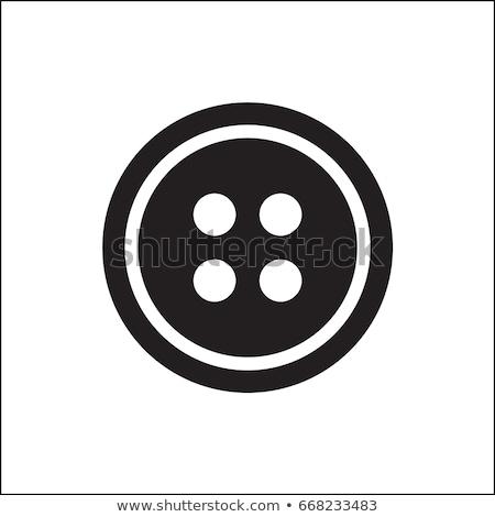 Ropa botones establecer color azul industria Foto stock © timurock