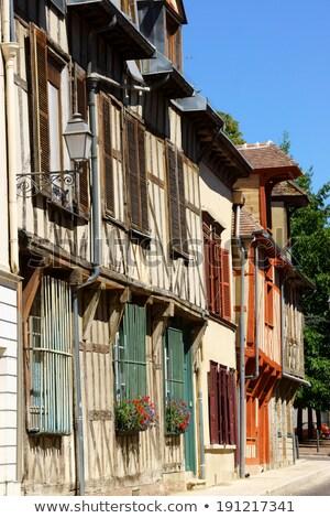 Velho casas França edifícios medieval Foto stock © aladin66