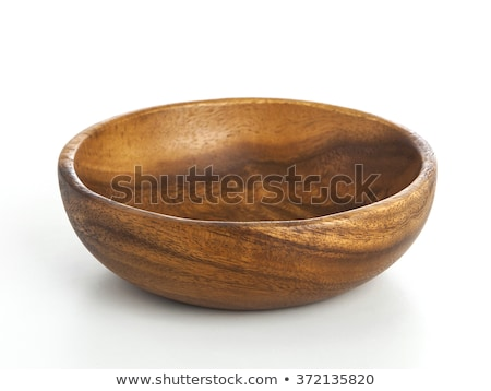 Fából készült csészealj fehér háttér tiszta főzés Stock fotó © punsayaporn