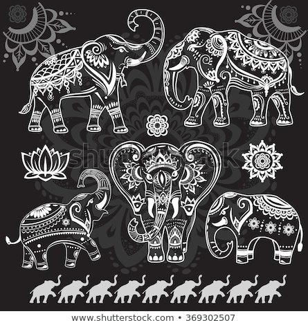 Elephant Indian Style Stockfoto © wikki