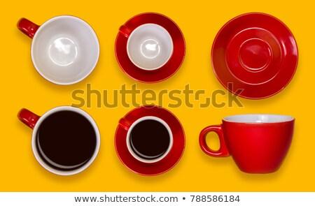 Rosso tè piattino isolato bianco home Foto d'archivio © PetrMalyshev