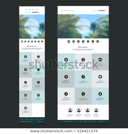 One page TRAVEL website flat UI design template Stock photo © DavidArts