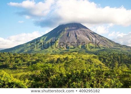 火山 パノラマ 表示 溶岩 サイド 緑 ストックフォト © Hofmeester
